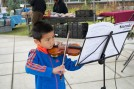 Andy Zhang, 7, plays violin September 19th.