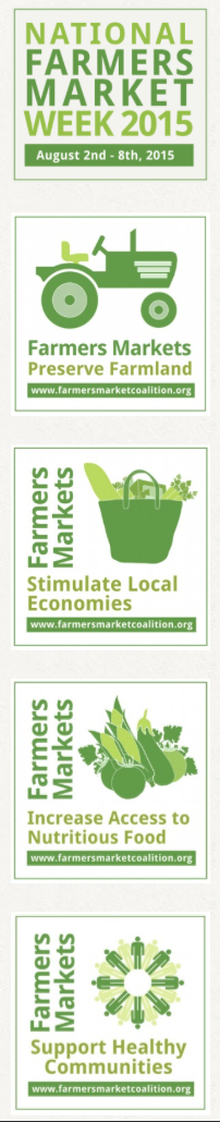 National Farmers Market Week graphics
