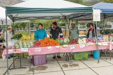 Fresh produce from Bhutanese gardeners in Mountain View.